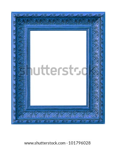 The picture frame isolated on white #101796028