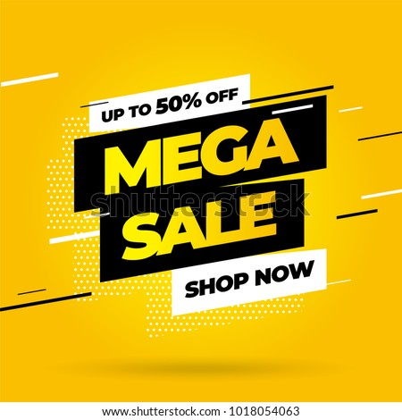 Sale banner template design, Big sale special offer. Vector illustration. #1018054063