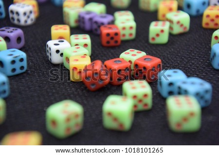 lots of colorful dice #1018101265