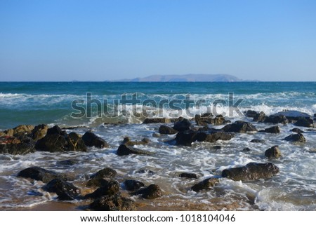 Summer morning by the sea in Kokkini Hani on the island of Crete #1018104046