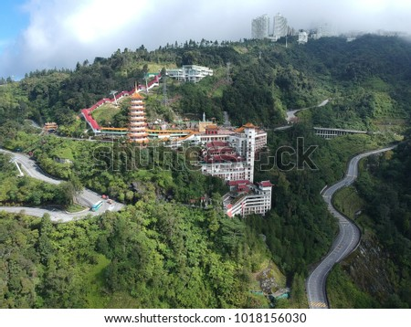 Aerial view of Chin Swee Caves Temple.  #1018156030