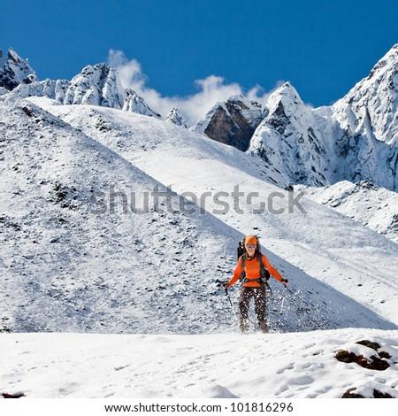 Hiking in Himalaya mountains #101816296