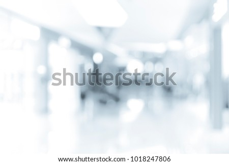 Abstract background of shopping mall on Hong Kong in blue color #1018247806