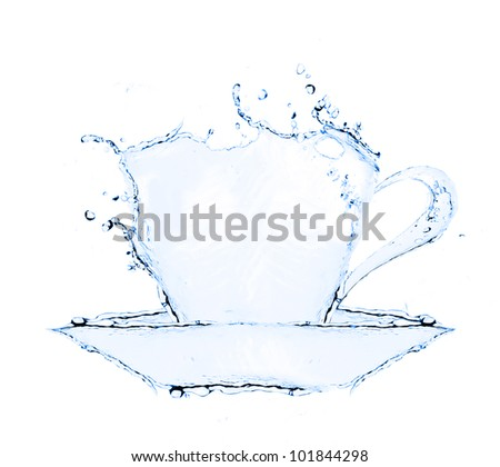 coffee cup making from water splash #101844298