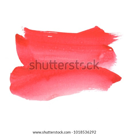 Watercolor background created by hand with a brush. Beautiful vague spot of watercolor. The texture is suitable for decorating the background of your design. #1018536292
