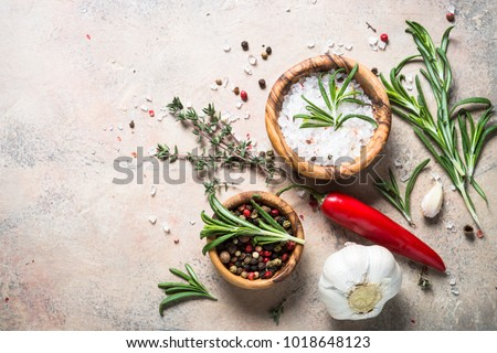 Food cooking background top view. #1018648123