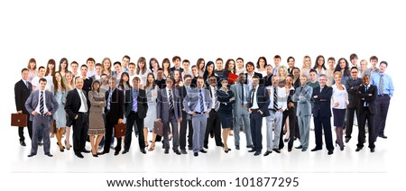 Young attractive business people - the elite business team Royalty-Free Stock Photo #101877295