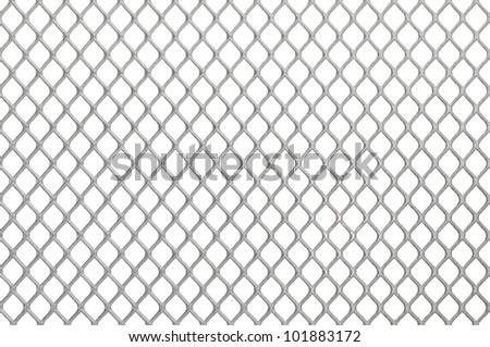 Iron chain fence on the white background #101883172