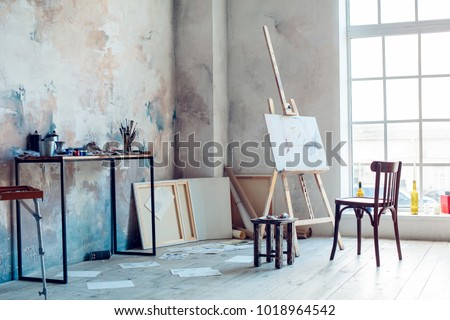 Creative artist workplace room no people hobby