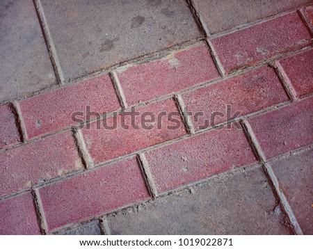 Brick sidewalk  in Bangkok. Brick background. #1019022871
