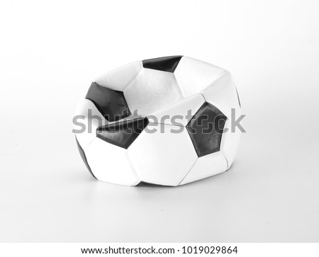 deflated soccer ball #1019029864