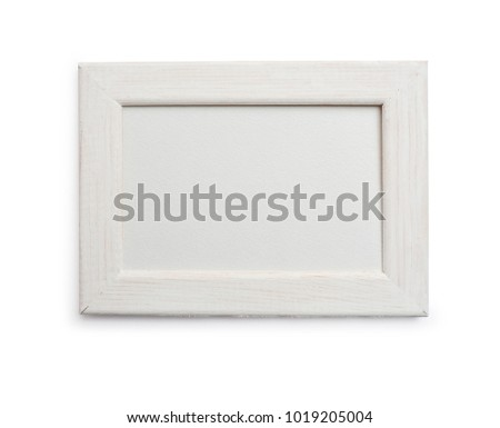Mockup frame on isolated clipping mask on white background, top view #1019205004