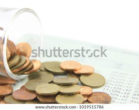 Save money concept with tag on white background.It selection focus. #1019515786