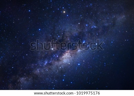 milky way galaxy with stars and space dust in the universe #1019975176