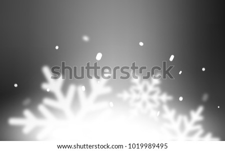 Light Gray vector background with xmas snowflakes. Shining colored illustration with snow in christmas style. New year design for your business advert. #1019989495