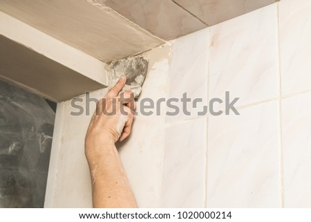 wall plastering work by hand #1020000214