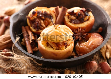 baked apple and nuts #1020103405