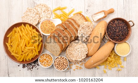 selection of gluten free food Royalty-Free Stock Photo #1020163204