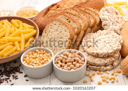 selection of food gluten free Royalty-Free Stock Photo #1020163207