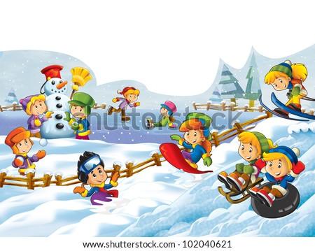 winter fun kids