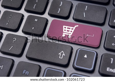 online shopping or internet shop concepts, with shopping cart symbol. #102061723