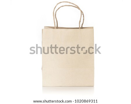 brown paper bag isolated on white background #1020869311
