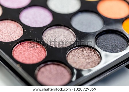 Backgrounds of Cosmetic makeup set on table. #1020929359