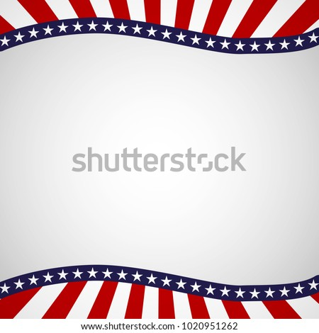Empty template with a pattern of stars and stripes of colors of the national flag of the USA Patriotic Background for Holidays Independence Day Presidential Day Labor Day Element of card design Vector