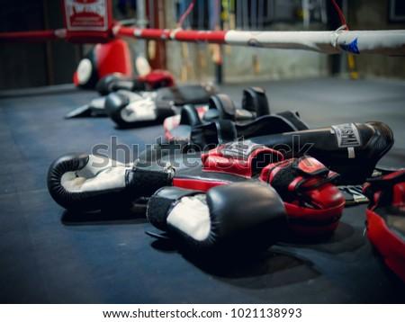 muay thai gym accessory Royalty-Free Stock Photo #1021138993