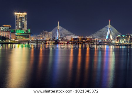Zakim Bridge Nightlights