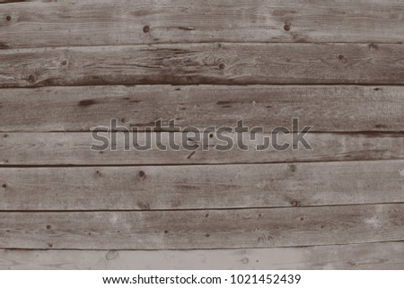 Brown grey wood texture and background. Wood texture background. Rustic, old wooden background. Aged wood planks texture pattern.  #1021452439