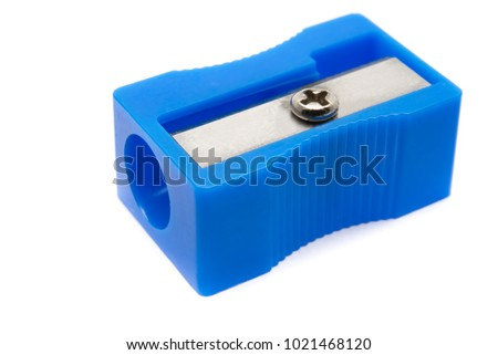 Pencil Sharpener Isolated on White Background. Royalty-Free Stock Photo #1021468120