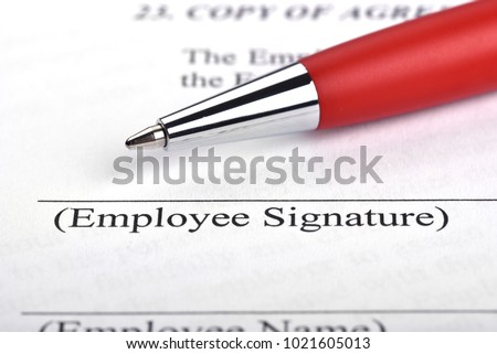 Employment contract signing #1021605013