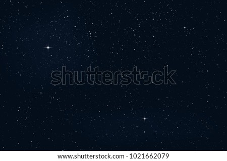 Night starry sky with stars and planets suitable as background - Vector