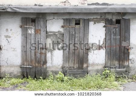 Old vintage doors texture #1021820368