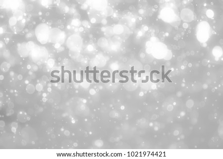 Gray bokeh White and Silver lights on bokeh abstract background. #1021974421