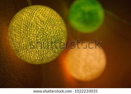 Celebratory lights. Luminous balls. glowing garlands.  #1022210035