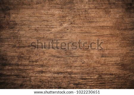 Old grunge dark textured wooden background,The surface of the old brown wood texture,top view brown wood paneling #1022230651