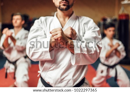 Martial arts fighters hone their skills #1022297365