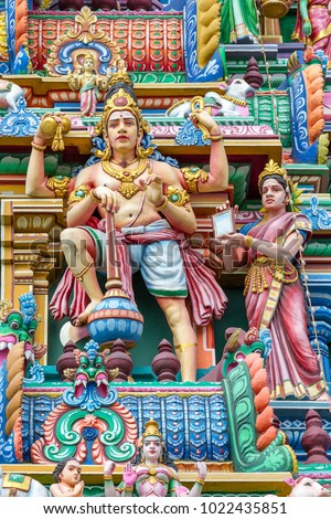 detail of Arulmigu Kapaleeswarar Temple, Chennai, Tamil Nadu, India #1022435851