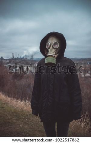 people wearing gas masks #1022517862