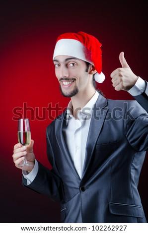 Businessman celebrating christmas holidays #102262927
