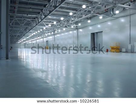 empty room of new storehouse