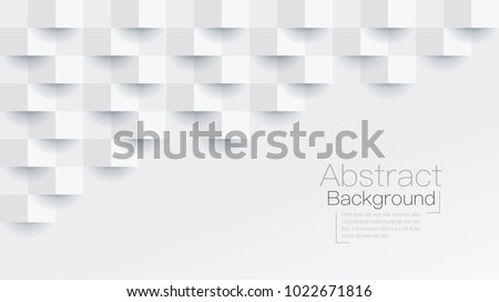 White abstract texture. Vector background 3d paper art style can be used in cover design, book design, poster, cd cover, flyer, website backgrounds or advertising. Royalty-Free Stock Photo #1022671816