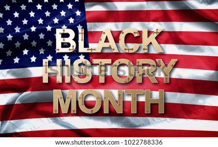 Black History Month (African-American History Month ) background design for celebration and recognition in the month of February. #1022788336