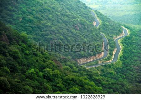 The winding roads to Kodaikanal, Tamilnadu, India #1022828929