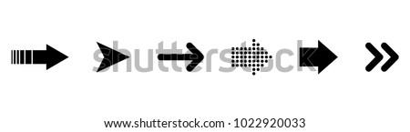 Set of black vector arrows. Arrows icon. Arrow vector icon. Arrows vector collection Royalty-Free Stock Photo #1022920033