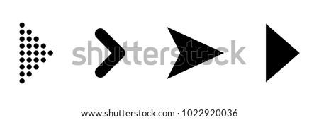 Set of black vector arrows. Arrow icon. Arrow vector icon. Arrow. Arrows vector collection Royalty-Free Stock Photo #1022920036