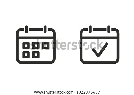 Calendar vector icon. Black illustration isolated for graphic and web design. Royalty-Free Stock Photo #1022975659