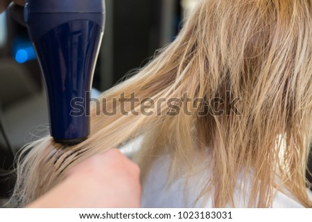 Drying washed hair after making hair extensions #1023183031